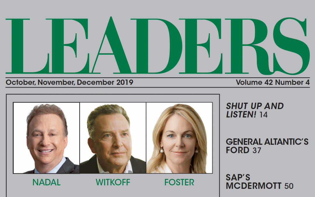 Leaders Magazine, Fall 2019 | Miles S. Nadal on The Power Of Human Capital